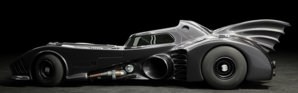 The batmobile: side view created with Blender and Cycles