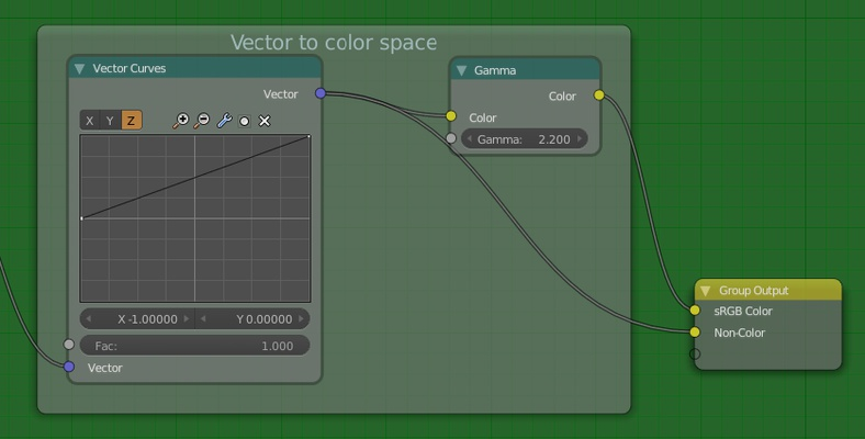 Converting vector to color